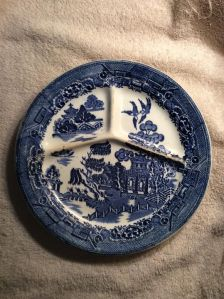 Willow plate, our daily china