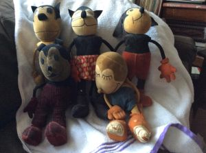 Group of Aesop Fable Dolls
