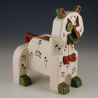1914 Ceramic Cat with Cigar and Monocle designed by Louis Wain (Made in Austria) 20.7 cm high x 18 cm long 1.jpg